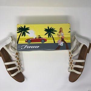 White Forever Woven Sandals